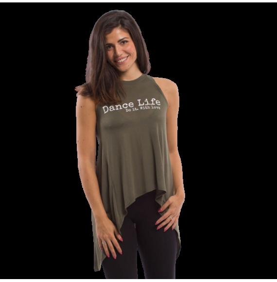 T-shirt danza lunga
