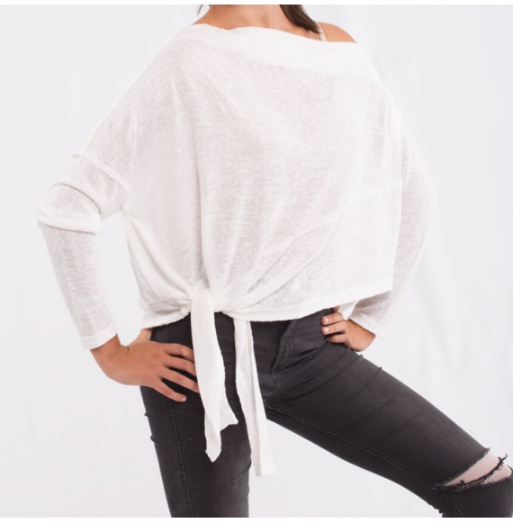 Maglione leggero asimmetrico