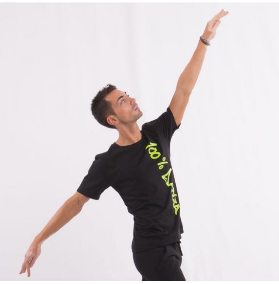 100% danza t-shirt uomo